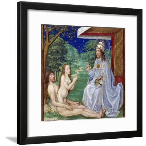 The Creation of Eve from Adam's Rib in the Garden of Eden--Framed Art Print