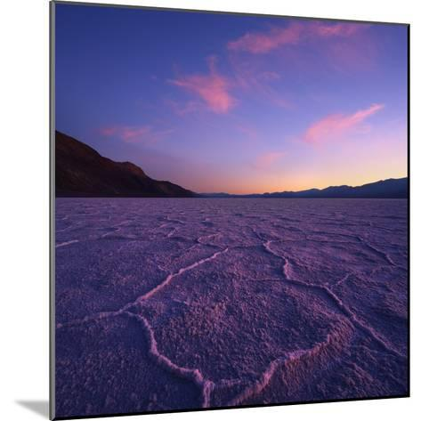Badwater Basin at Dusk.-Jon Hicks-Mounted Photographic Print