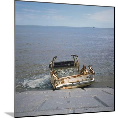 Car Wreck in Sea-Robert Brook-Mounted Photographic Print