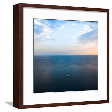 Ship in the Sea-Oleh Slobodeniuk-Framed Art Print