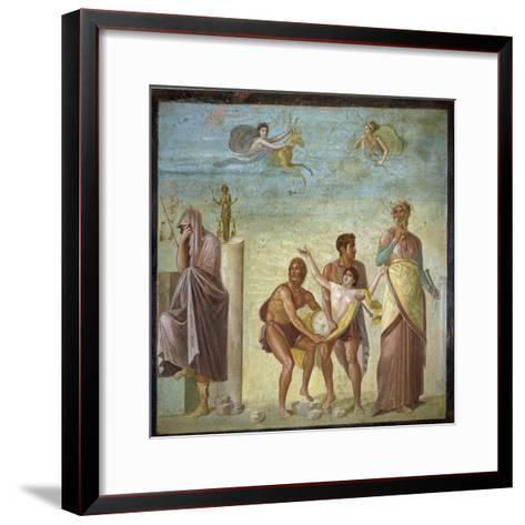Roman Art : the Sacrifice of Iphigenia--Framed Art Print