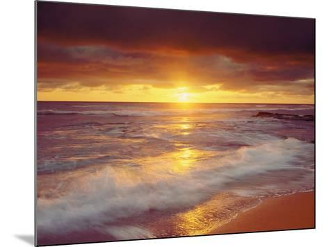 Sunset Cliffs Beach on the Pacific Ocean at Sunset, San Diego, California, USA-Christopher Talbot Frank-Mounted Photographic Print