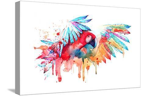 Parrot-okalinichenko-Stretched Canvas Print