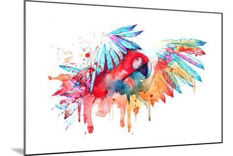 Parrot-okalinichenko-Mounted Art Print