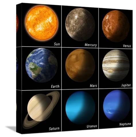 Solar System-alex_aldo-Stretched Canvas Print