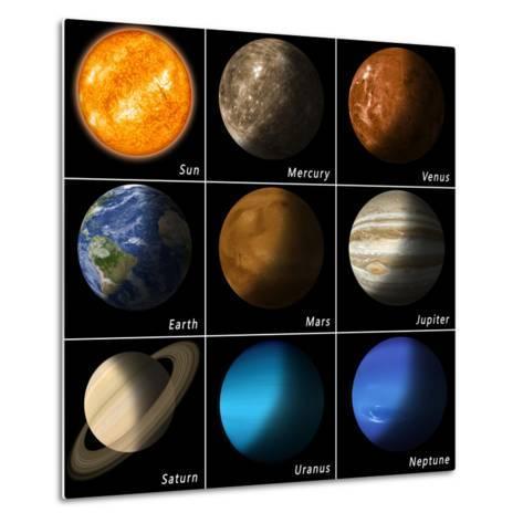 Solar System-alex_aldo-Metal Print