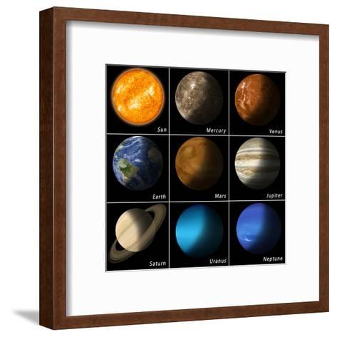 Solar System-alex_aldo-Framed Art Print