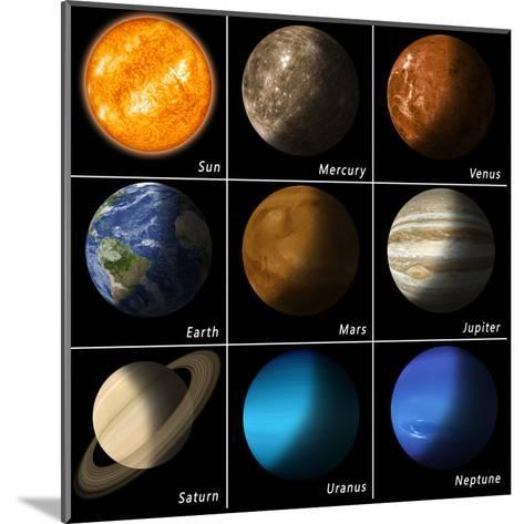 Solar System-alex_aldo-Mounted Art Print