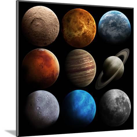 Hight Quality Solar System Planets-Vadimsadovski-Mounted Art Print