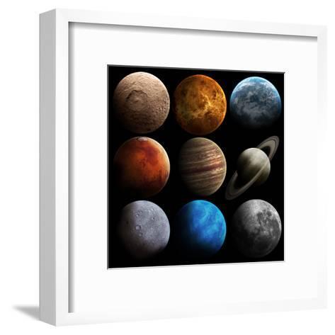 Hight Quality Solar System Planets-Vadimsadovski-Framed Art Print