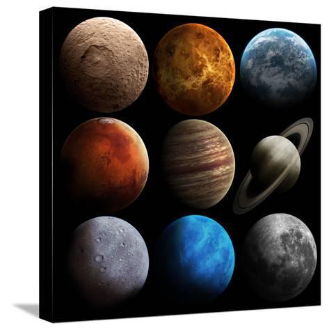 Hight Quality Solar System Planets-Vadimsadovski-Stretched Canvas Print