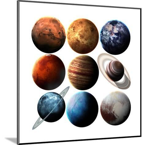 Hight Quality Isolated Solar System Planets. Elements of this Image Furnished by NASA-Vadimsadovski-Mounted Art Print