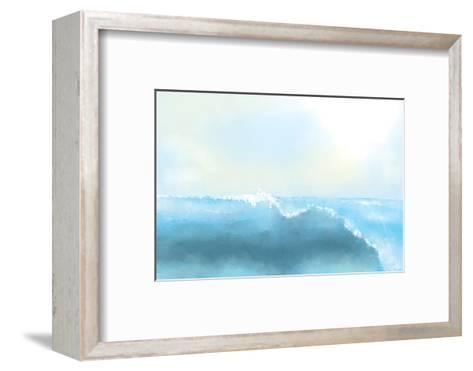 Painting Of A Great Sea Wave-stari-Framed Art Print