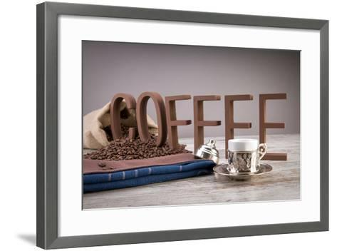 Turkish Coffee In Front Of Coffee Letters- Uwphotographer-Framed Art Print