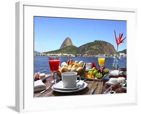 Breakfast In Rio De Janeiro-luiz rocha-Framed Art Print