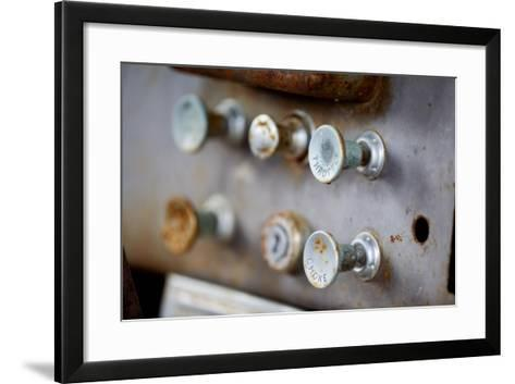 Pull Knobs - Choke And Throttle With Shallow Depth Of Field-leaf-Framed Art Print