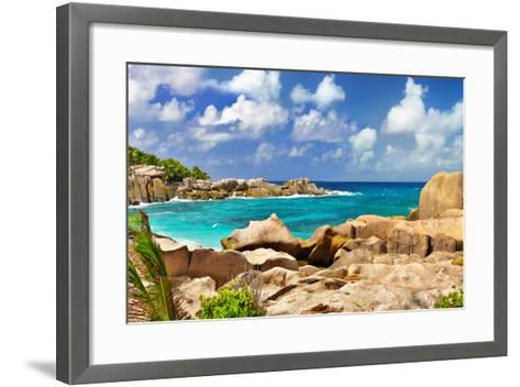 Amazing Seychelles With Unique Granite Rocks-Maugli-l-Framed Art Print