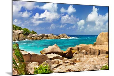 Amazing Seychelles With Unique Granite Rocks-Maugli-l-Mounted Photographic Print