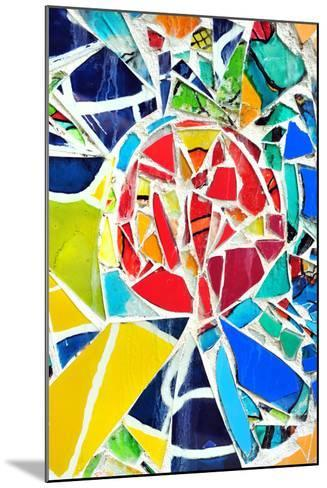 Mosaic Wall Decorative Ornament From Ceramic Broken Tile-tupikov-Mounted Photographic Print