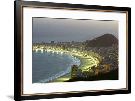 Night Panoramic View Of Rio De Janeiro-luiz rocha-Framed Art Print
