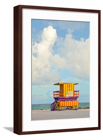 Miami Beach Florida Lifeguard House-Fotomak-Framed Art Print