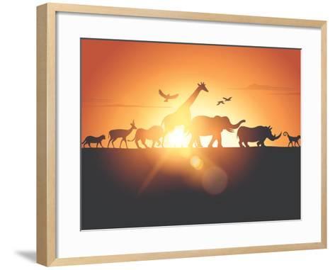 Sunset Safari-Solarseven-Framed Art Print