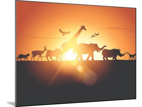 Sunset Safari-Solarseven-Mounted Photographic Print