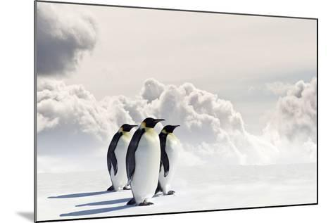 Emperor Penguins In Antarctica-Jan Martin Will-Mounted Photographic Print