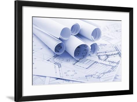 Rolls of Architecture Blueprints--Vladimir--Framed Art Print
