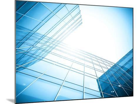 Glass Building Perspective View-Vladitto-Mounted Photographic Print