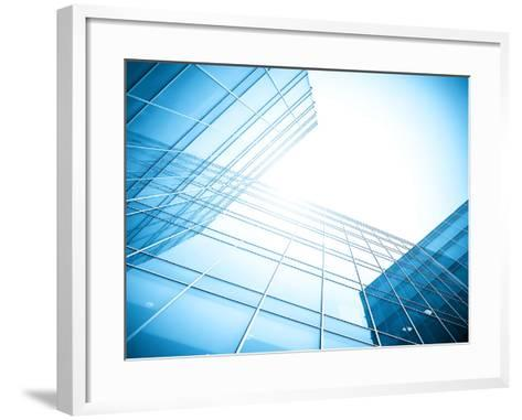 Glass Building Perspective View-Vladitto-Framed Art Print