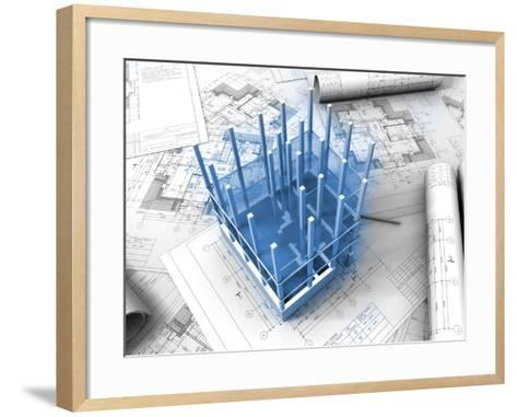 Plan Drawing-ArchMan-Framed Art Print