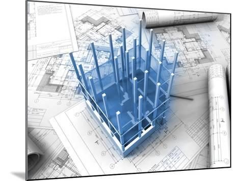Plan Drawing-ArchMan-Mounted Photographic Print
