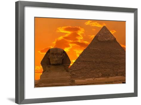 The Sphinx And Great Pyramid, Egypt-Dmitry Pogodin-Framed Art Print