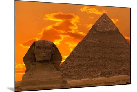 The Sphinx And Great Pyramid, Egypt-Dmitry Pogodin-Mounted Photographic Print