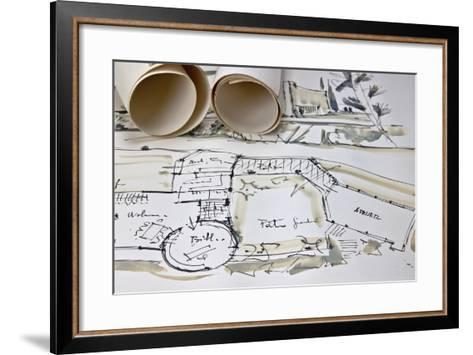 The Blueprint of a House-Giovanna - ricordi fotografici-Framed Art Print