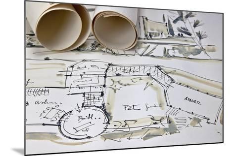 The Blueprint of a House-Giovanna - ricordi fotografici-Mounted Photographic Print