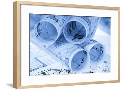 Rolls of Architecture Blueprints and House Plans--Vladimir--Framed Art Print