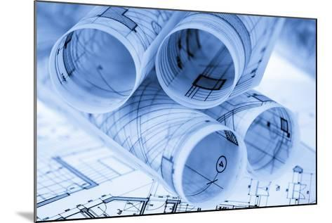 Rolls of Architecture Blueprints and House Plans--Vladimir--Mounted Photographic Print