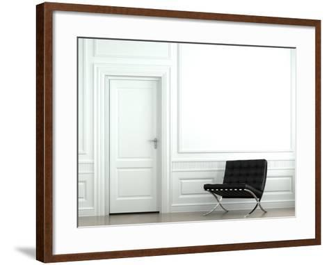 Interior Design Classic Wall With Chair-arquiplay-Framed Art Print