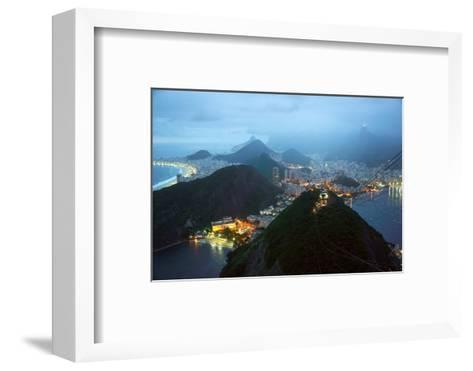 Rio De Janeiro By Night, Brazil-xura-Framed Art Print