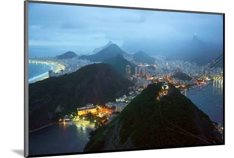 Rio De Janeiro By Night, Brazil-xura-Mounted Photographic Print