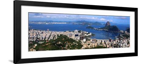 Panoramic View Of Rio De Janeiro, Brazil Landscape-SNEHITDESIGN-Framed Art Print