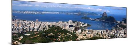 Panoramic View Of Rio De Janeiro, Brazil Landscape-SNEHITDESIGN-Mounted Photographic Print