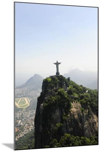 Statue Of Corcovado Cristo Redentor In Rio De Janeiro Brazil, City Of Games Os 2016-mangostock-Mounted Photographic Print