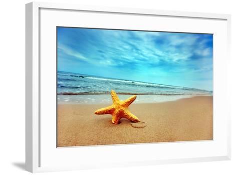 Starfish on the Beach-Michal Bednarek-Framed Art Print
