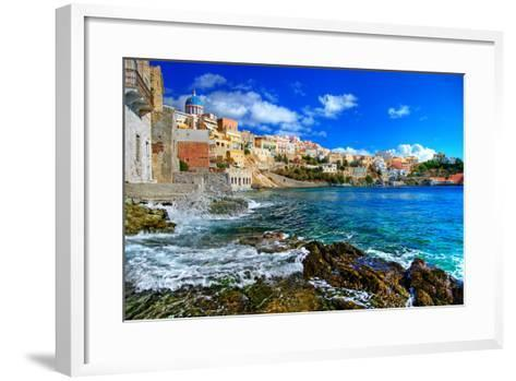 Beautiful Greek Islands Series - Syros-Maugli-l-Framed Art Print