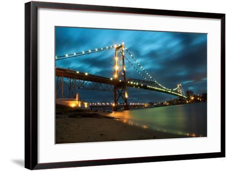 Hercilio Luz Bridge-cavasotti-Framed Art Print