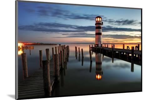 Lighthouse At Night-TomasSereda-Mounted Photographic Print