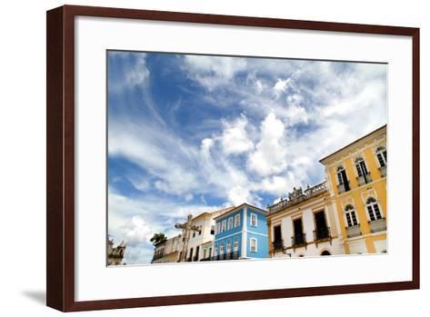Buildings In Salvador-Spectral-Design-Framed Art Print